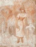 Femme debout à la faucille (La moissonneuse) - Pierre-Auguste Renoir