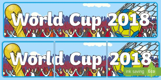 World Cup Display Banner Football Sport Topic Soccer Display Banners Banner World Cup