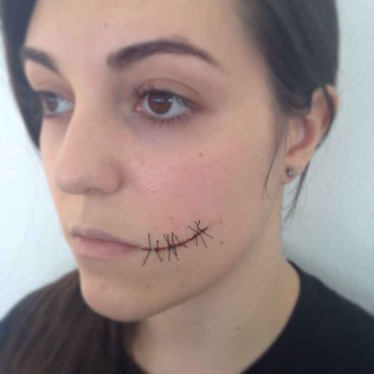 Stitches/Chelsea smile. SFX Makeup. MUA. Makeup by Charlotte Savage