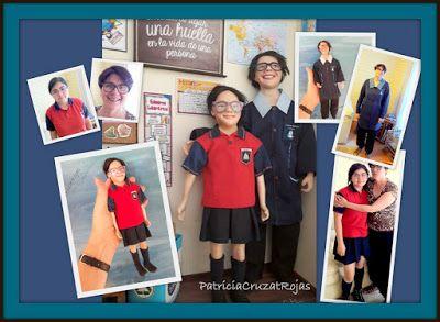 Patricia Cruzat Artesania y Color: Profesora Mamá e hija en un cuadro personalizado con miniaturas