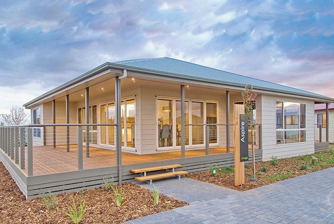 Here's a house that's not too big and has a bright, airy interior. It's by Rivergum Homes, and it's a single-story dwelling with a stylish hip roof. This house is said to be ideal for the we...