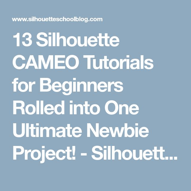 13 Silhouette CAMEO Tutorials for Beginners Rolled into One Ultimate Newbie Project! - Silhouette School