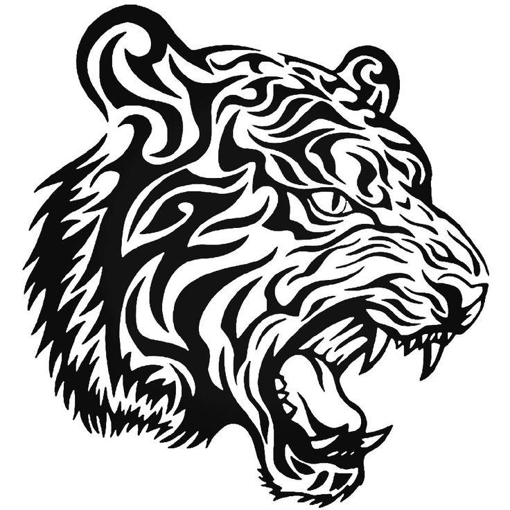 Tribal Tiger Animal Zoo 3 Vinyl Decal Sticker  BallzBeatz . com