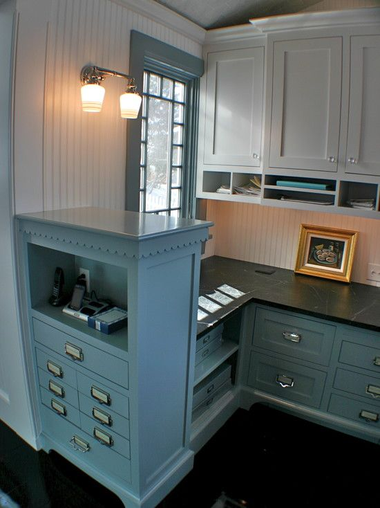 Desk Area   Eclectic   Home Office   Other Metro   Artisan Kitchens LLC I  Like The Hardware On These Drawers!