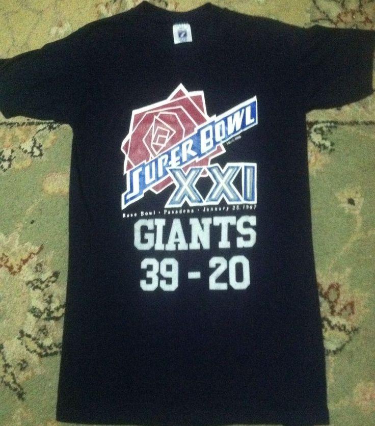 Vintage 1987 NEW YORK GIANTS SUPER BOWL XXI shirt size small NFL football 80s #Logo7 #NewYorkGiants