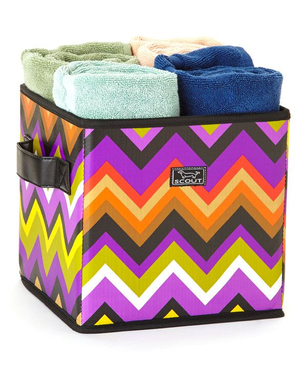 Take a look at this Stardust Zigzag Collapsible Storage Bin on zulily today!