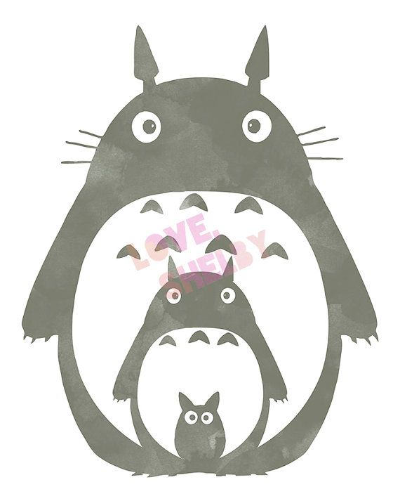 This Totoro print-it-yourself Art Set was inspired by the world renowned Japanese Anime and Manga film director and animator, Hayao Miyazaki,