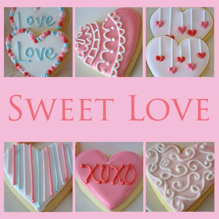 Pretty heart shaped Valentine's sugar cookies by Bake Sale Toronto.