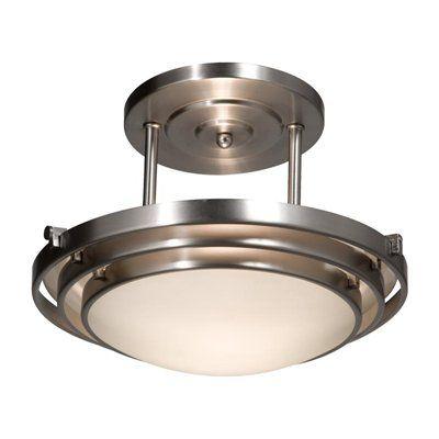 contemporary 2 helius lighting. Artcraft Lighting AC282 Springfield Semi Flush Ceiling Light, Brushed Nickel Contemporary 2 Helius