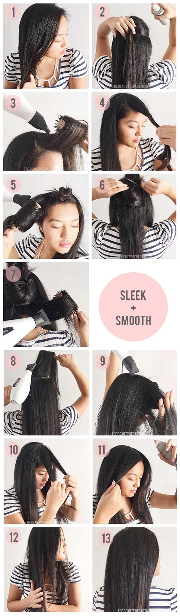 Hair Straightening Tutorials - Long-Lasting Frizz Control Blow-Dry -Looking For The Best Hair Straightening Tutorials And The Best Straightening Tips On The Web? Whether You Are Looking To Use A Flat Iron, Or Trying To Straighten Your Hair Without Heat, Where There's A Will, There's A Way, And There Are Products To Help Your Curls. These Step By Step Hair Straightening Hacks And Tips Will Make It So You Can DIY Your Hair With Some Simple Techniques, A Brush, And Your Creativity. We Cover…