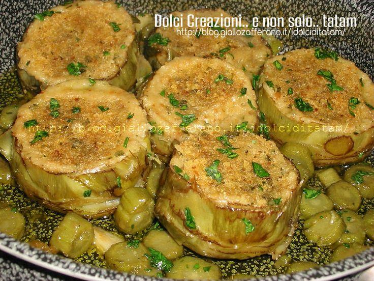 Carciofi ripieni in padella | ricetta vegetariana contorno