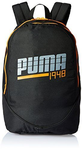 Puma Mens Notebook Rucksack Backpack 1948 Black-Orange