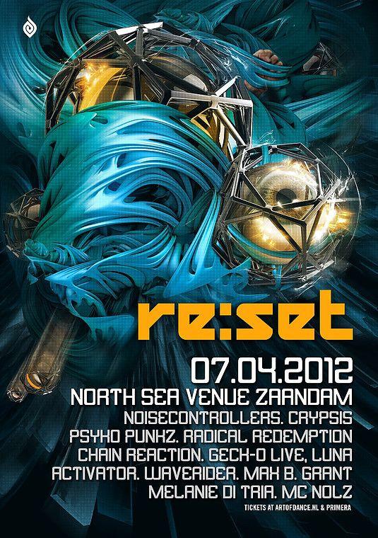 Grafisch ontwerp van Dutchaholic voor Reset - Artwork - Event - Poster design