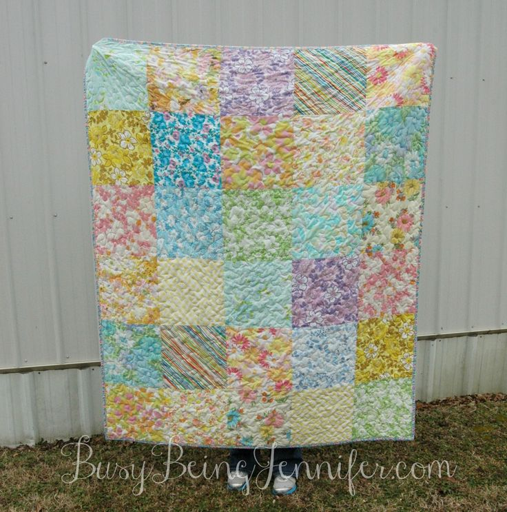 Simply Vintage - A Vintage Sheet Quilt - Busy Being Jennifer