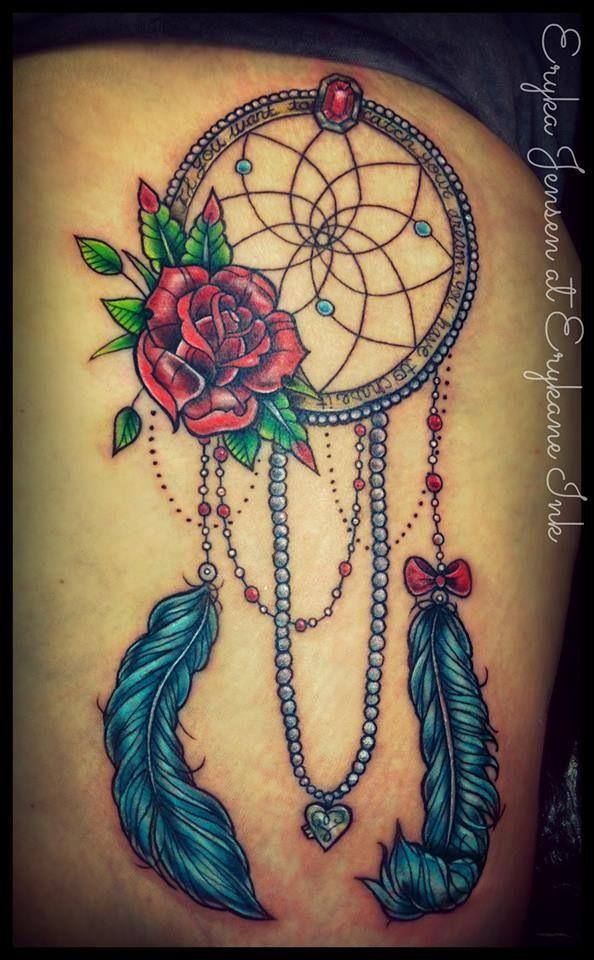 Girly Dreamcatcher tattoo @erykane | Tattoo. | Pinterest ...