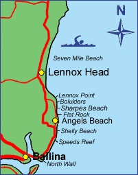 Lennox Head Beach Map