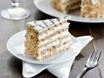 Orechová torta Esterházy