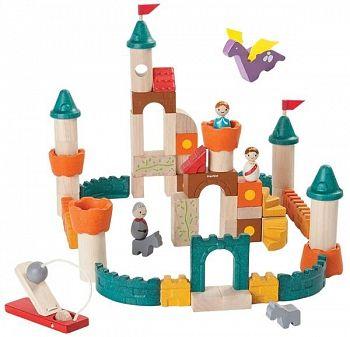 En ekologiskt tillverkad byggsats som förutom byggdelar innehåller en flygande drake och en fungerande katapult. Det är bara att låta leken börja!
