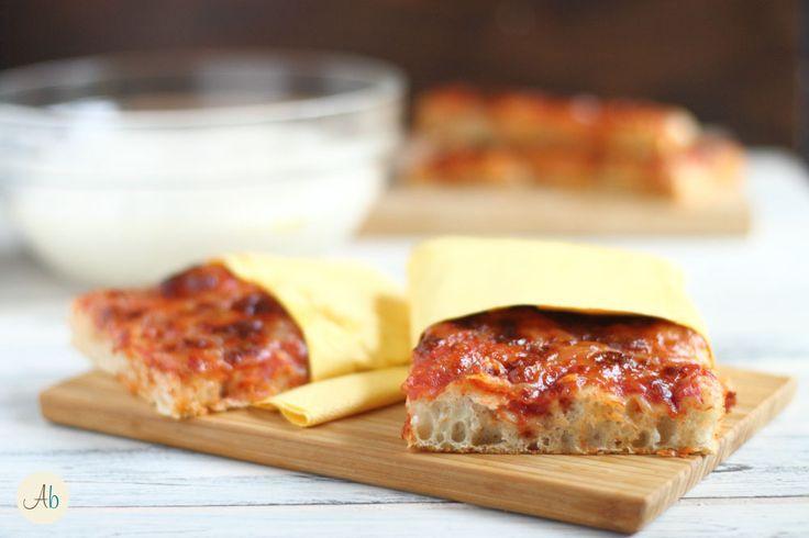 Pizza in Teglia di Bonci - semplice nell'esecuzione, molto morbida ma con crosta croccante l'impasto del re romano della pizza per farla in casa.