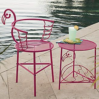 Flamingo Chair and Side Table from Seventh Avenue…would so be happening if i ever saw these for sale!