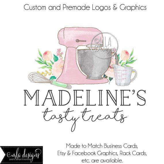 Premade Logo Bakery Cupcake By MLAdesigns