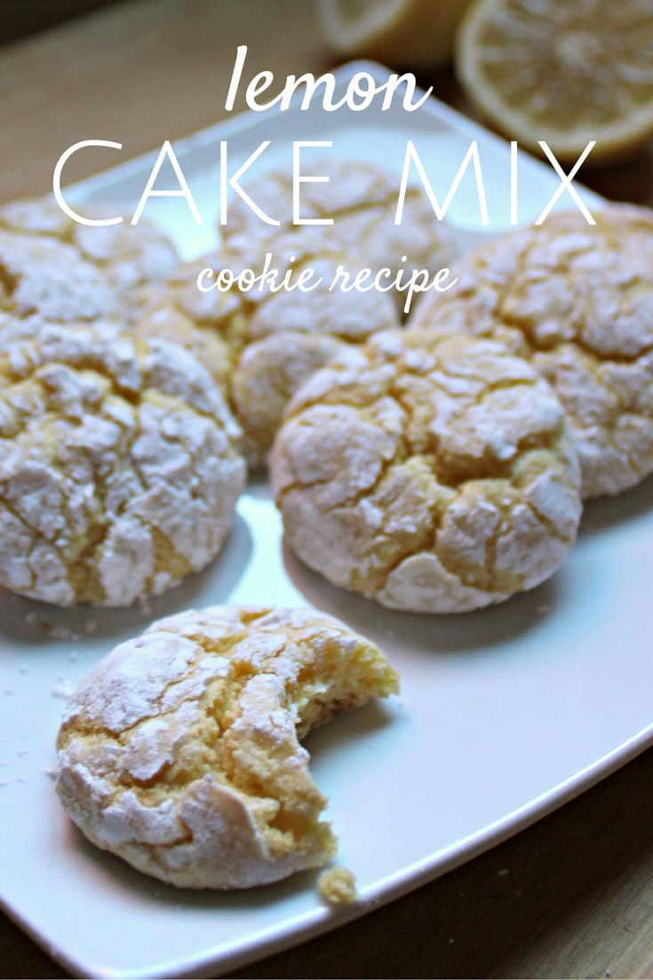 This cookie recipe could not be easier!  Grab your favorite cake mix, we tried lemon, and make these simple cookies.  It only takes 7 ingredients to make these favorites!