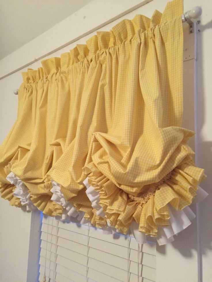 Balloon Curtains, Yellow Ruffle Curtains