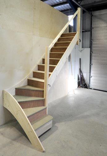 Stairs to Loft in Garage