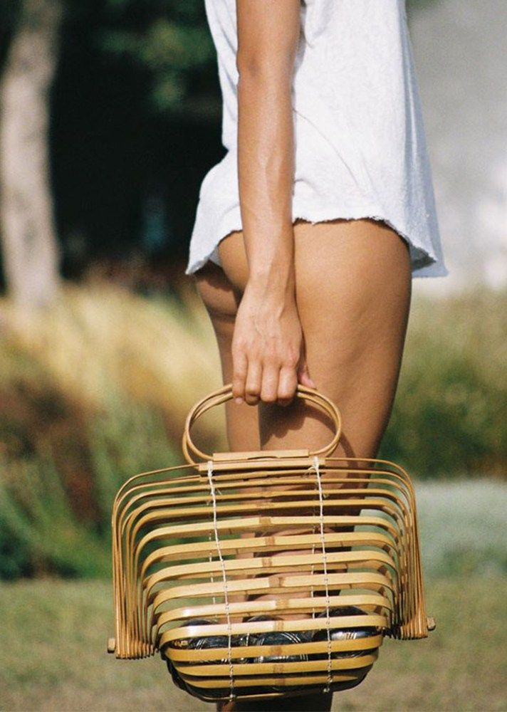 Cult Gaia straw bag