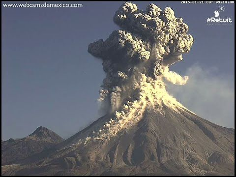 Great video footage of a volcano erupting - person there at the right time.