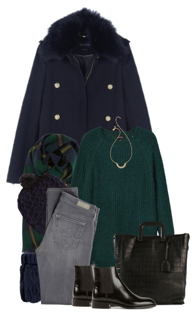 """""""SNOW WEATHER LOOK!!"""" by sasoula ❤ liked on Polyvore featuring Massimo Dutti, Drakes London, Monki, Accessorize, H&M, 3.1 Phillip Lim, AG Adriano Goldschmied, Yves Saint Laurent and Rebecca Minkoff"""