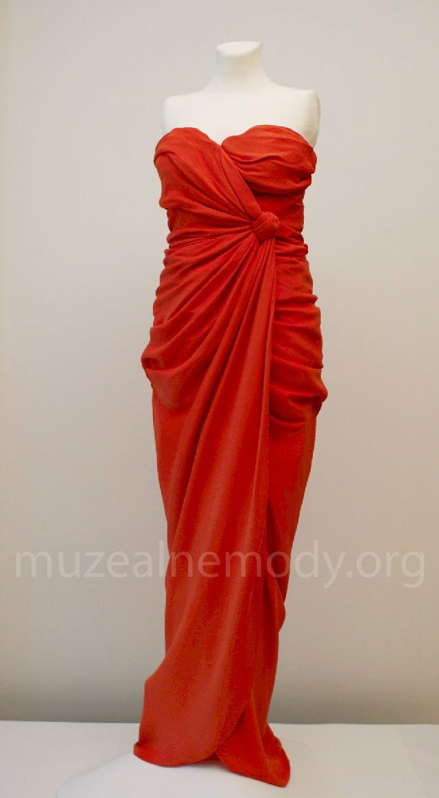 LECOANET HEMANT couture gown, 1990s.; Silk