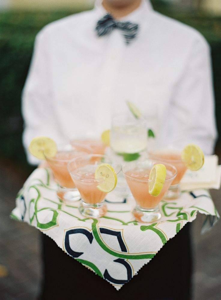 Specialty cocktails by PPHG events for a fall wedding in Charleston, South Carolina at The William Aiken House | Photo by Virgil Bunao