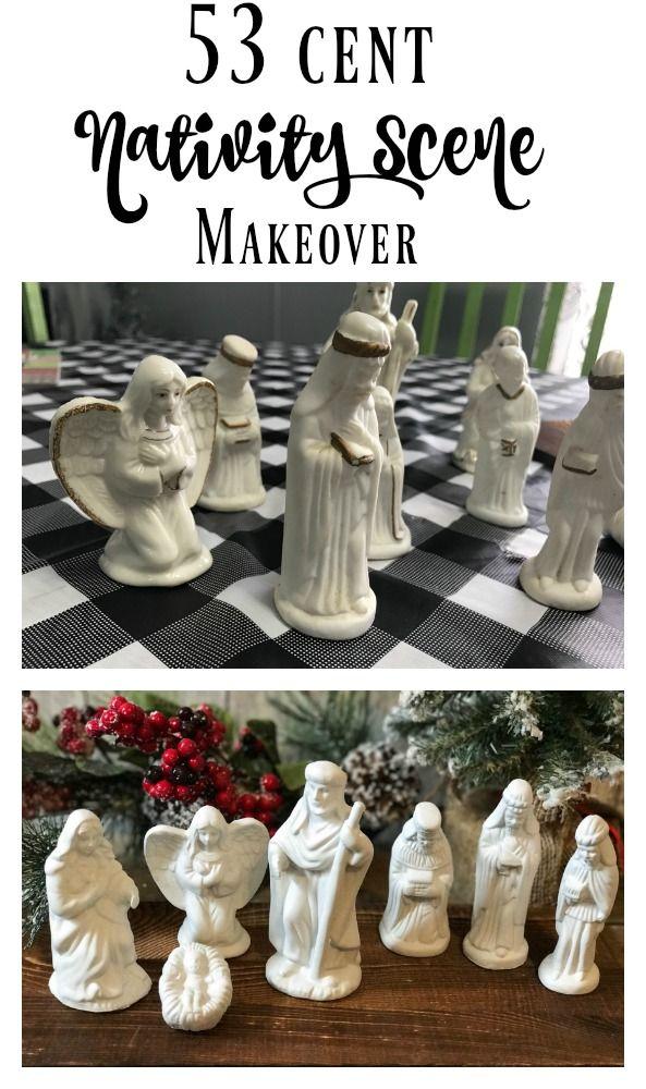 53 cent Nativity Scene Makeover!
