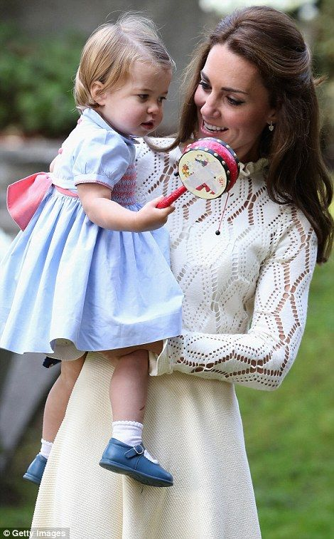 Princess Charlotte with Kate