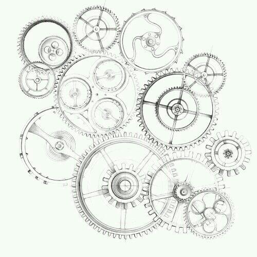 Machine drawing  – Zeichnung Maschienen