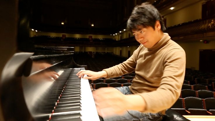 """Classical piano sensation Lang Lang performs Chopin """"Minute Waltz"""" Op. 64 No. 1 during a rehearsal at Boston's Symphony Hall on February 27, 2013. (Also hear..."""