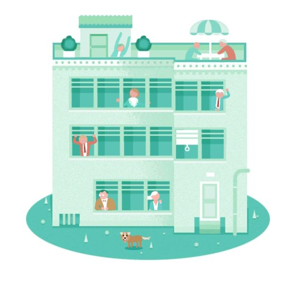 Animated GIF Illustrations by Rafael Varona