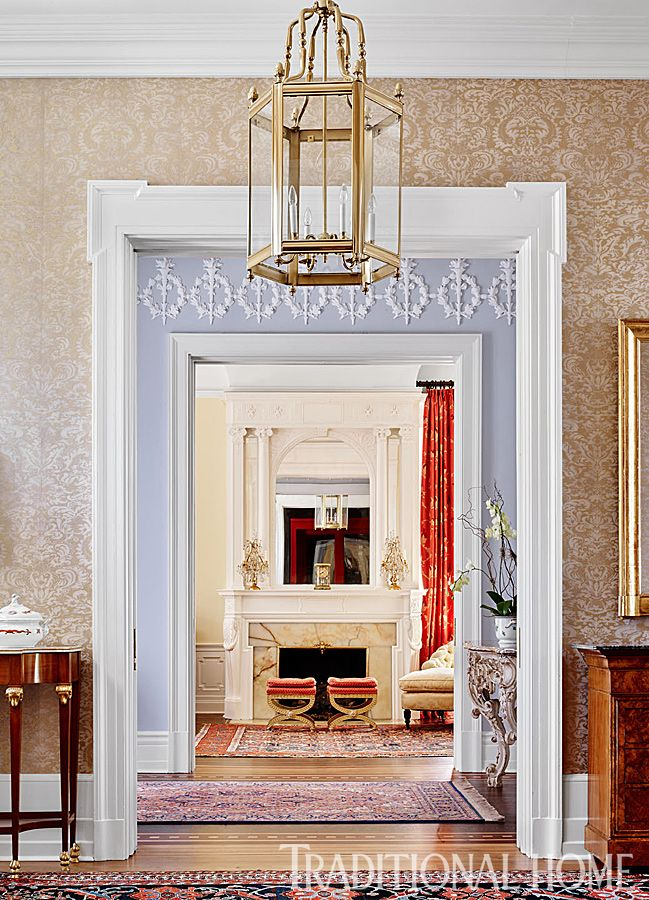 An Ornamental Frieze Embellishes The Upper Walls Of Anteroom That Links Foyer And