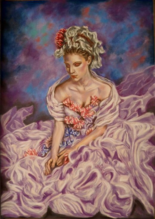 Buy Nymph jasmine, Pastel drawing by Anna  Sasim on Artfinder. Original art for sale. Soft pastel art on Pastelmat paper, woman drawing, woman painting.