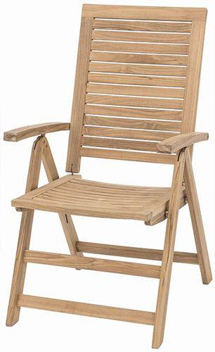 Fotel ogrodowy COLOMBO posiada możliwość regulowania kąta nachylenia oparcia. Wykonany w pełni z drewna teakowego i wykończony nierdzewnymi okuciami.   http://meblefann.pl/product-pol-123-Fotel-ogrodowy-COLOMBO.html