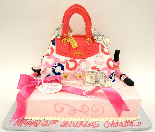 Coach Purse and Accessories Cake - by Creative Cakes (Tinley Park, IL) on Flickr