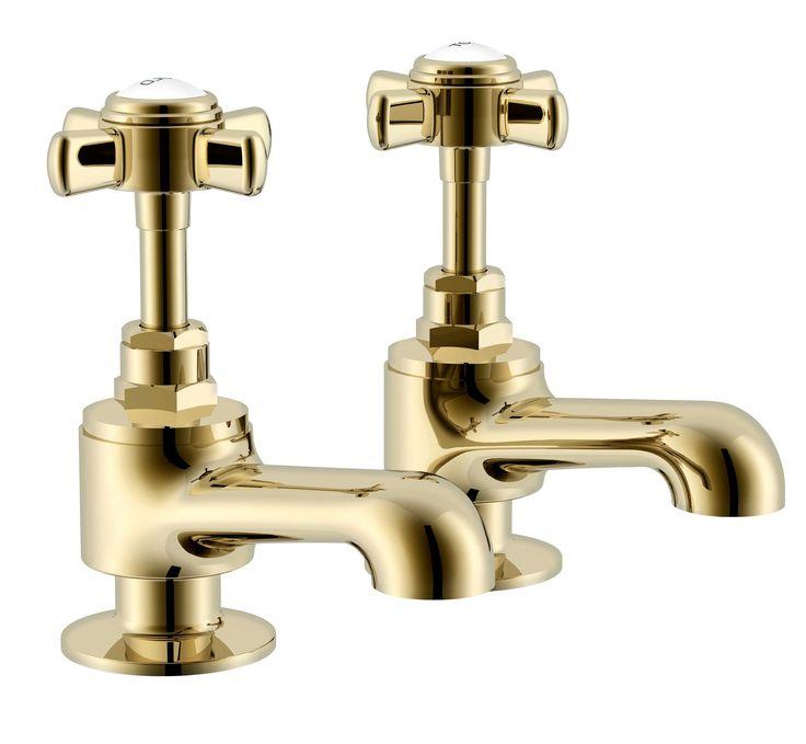 Cooke & Lewis Classic Gold Effect Bath Pillar Tap | Departments | DIY at B&Q
