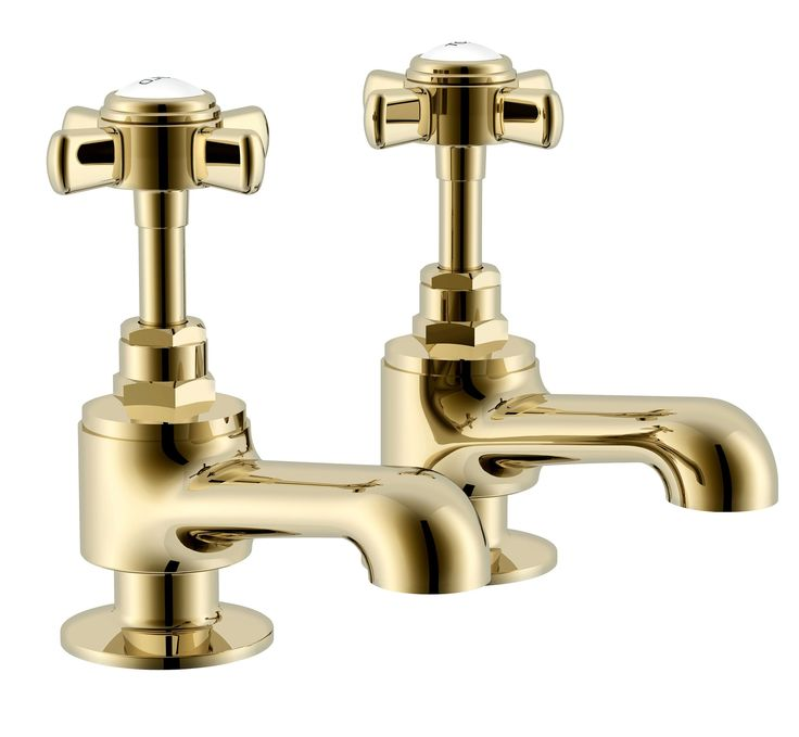 Cooke & Lewis Classic Gold Effect Bath Pillar Tap | Departments | DIY at B&Q