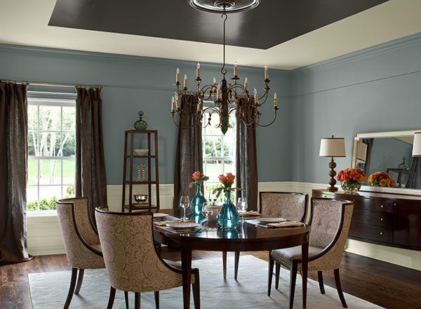 Dining room ideas inspiration paint colors blue for Dining room colour inspiration