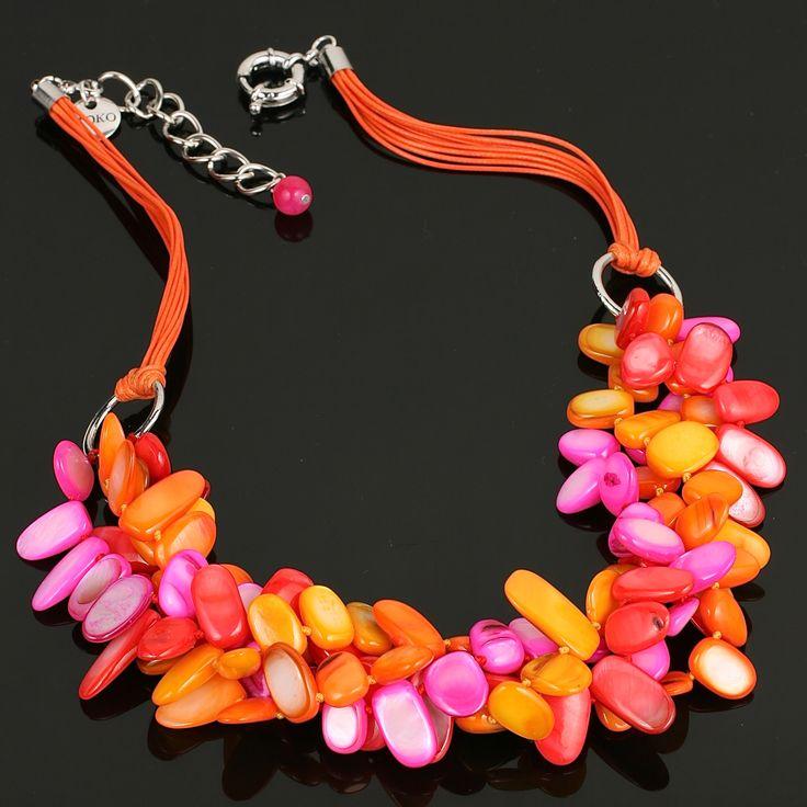 MOKO handmade necklace-  vibrant polished pearl shell www.moko.co