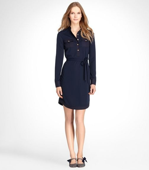 Great navy dress, perfect for a March day in AZ. I'd love to pair this with some casual brown flats or TOMS espadrilles.