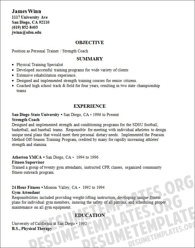 11 Personal Trainer Resume Examples | Sample Resumes