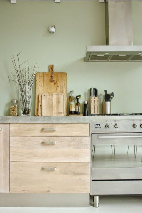 Love The Color Palette Mint Green Grey And Natural Wood Light Clean And