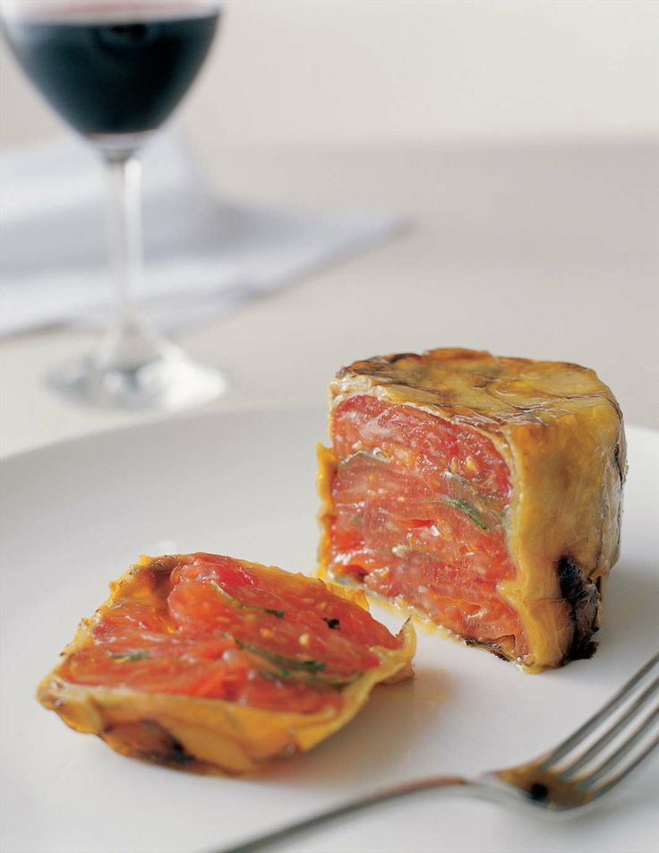 Eggplant and tomato terrine by Stefano de Pieri | Cooked